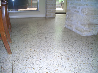 Poured Terrazzo before Diamond grinding