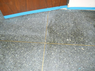 Poured Terrazzo before restoration