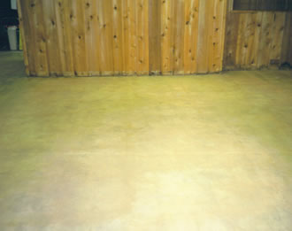 After: concrete stained and sealed.